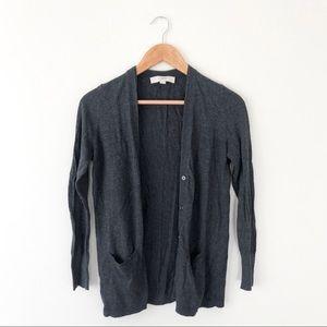 Loft Grey Knit Cardigan
